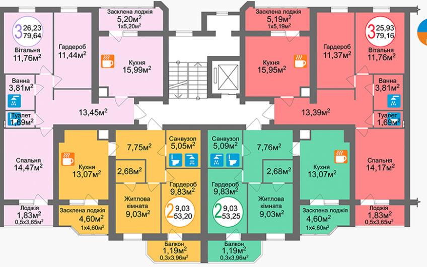 Купити квартиру №76, 2-кімнатна