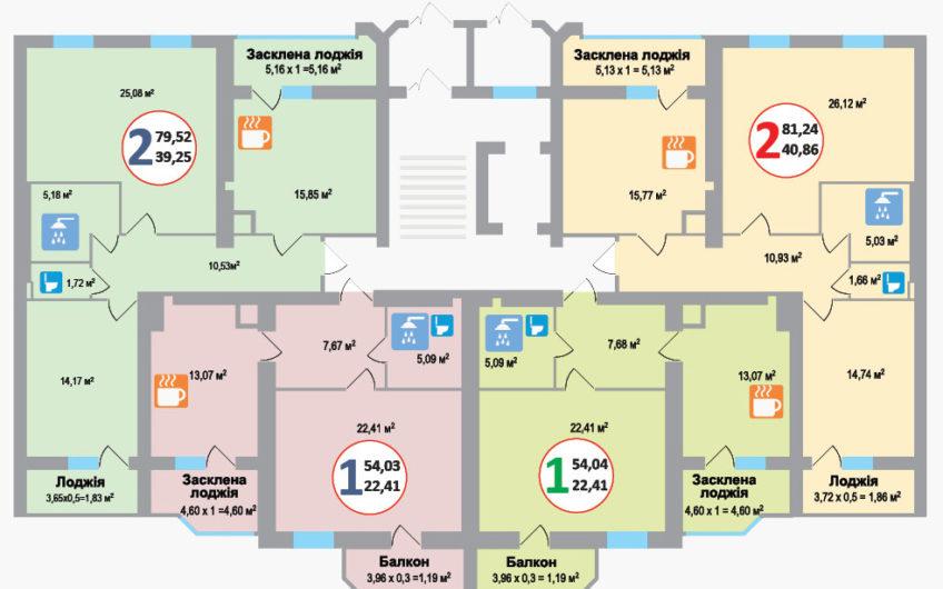 Купити квартиру №37, 2-кімнатна