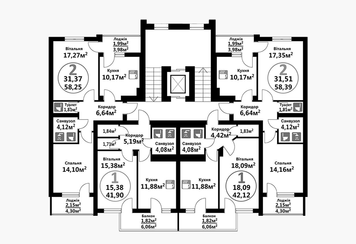 Тракт 4 (2 підїзд / 8 поверх)