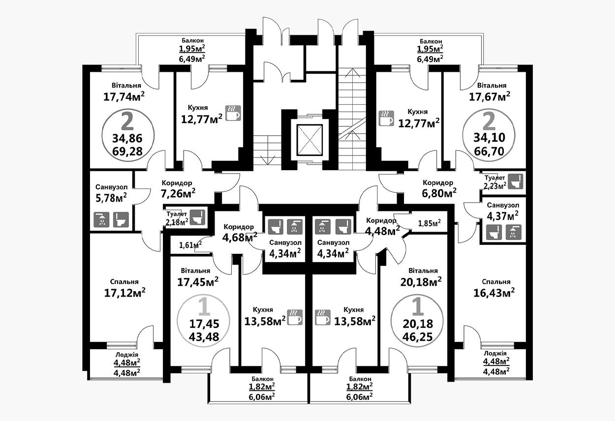 Тракт 4 (3 підїзд / 1 поверх)