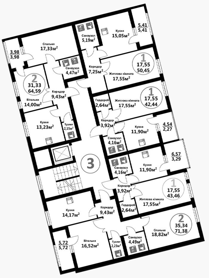 Козельницька (3 підїзд / 5 поверх)