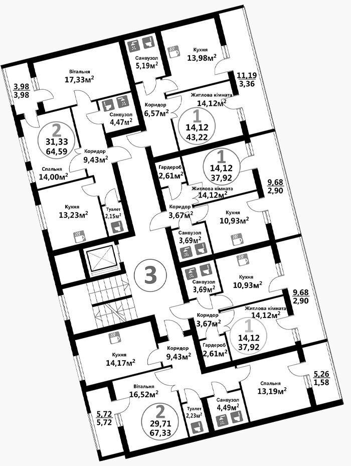 Козельницька (3 підїзд / 7 поверх)